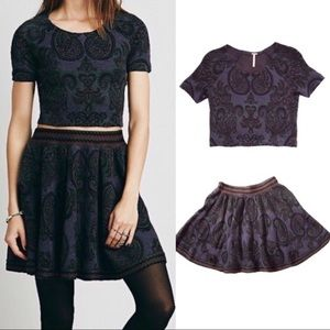 Free People Castilian Skirt & Top Set